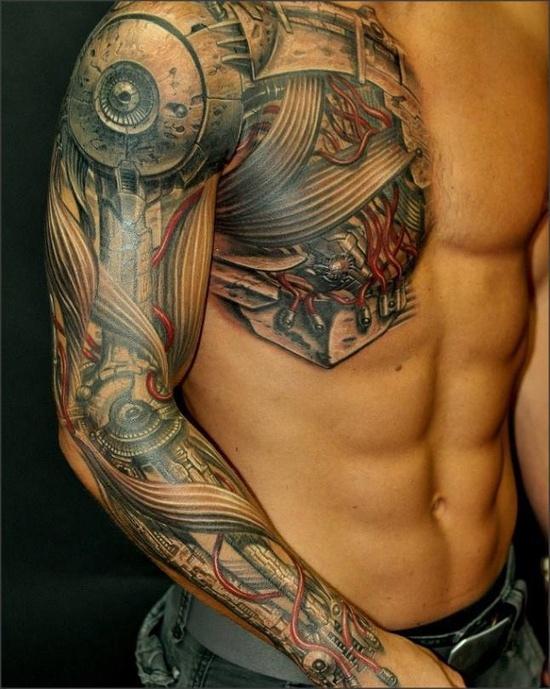 Tatuaje biomecánico Chipeo.es